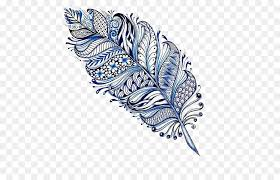 mandala drawing feather mehndi feather designs png