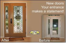 fiberglass front doors with glass new exterior front doors update the front entryway