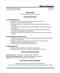 Objective Resume Examples Customer Service by Incredible Examples Of Objectives For Resumes 8 Sample Resume