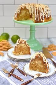 graham cracker bundt cake with key lime cheesecake swirl