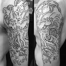 tattoos for half sleeve ideas black white getattoos us