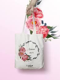 sac en toile personnalisable x437y tote bag personnalisé maman en or tote bag evjf sac de