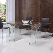 all glass dining room table viva modern