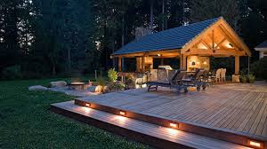 Patio Deck Lighting Ideas by Outdoor Fireplace With Pizza Oven Low Patio Voltage Deck Lighting