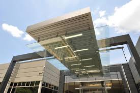 commercial building entrance canopies design of novelis u0027 new