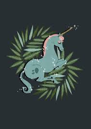 This magic unicorn illustration is beautiful I love how peaceful it