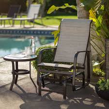 Kohls Patio Chairs by Have To Have It Coral Coast Del Rey Padded Sling Outdoor Glider