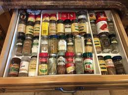 In Drawer Spice Racks Expand A Drawer Spice Organizer The Container Store