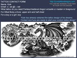 dragon tattoos custom tattoos made to order by juno