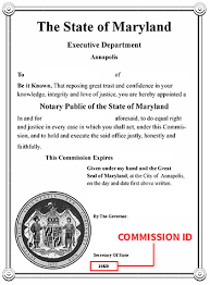 Certification Letter For Name Change Maryland Office Of The Secretary Of State Notary Division