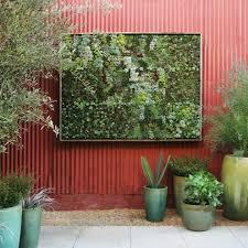 garden art design patio contemporary with corrugated metal