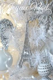 Eiffel Tower Ornaments A Winter Wonderland Christmas Tree Sand And Sisal