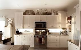 top of kitchen cabinet decor ideas best kitchen decor aishalcyon org ideas for decorating the top