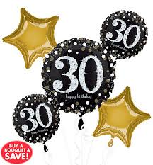 30th birthday balloon bouquets 30th birthday balloons party city