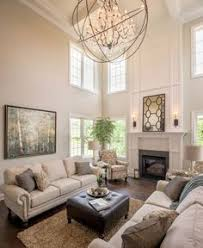 Two Story Family Room Two Story Fireplace Ship Lap Walls - Two story family room