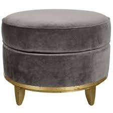 Ottoman Translation by Art Deco Normandy Ottoman In Grey Mohair And Gilt Detailing At 1stdibs
