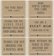 funny mother u0027s day poem card printables crafty morning