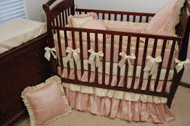Pink And Gold Nursery Bedding Crib Bumper Cream Creative Ideas Of Baby Cribs