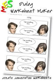 dialog worksheet maker create and print conversation worksheets