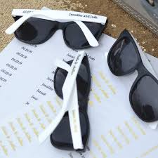 personalized sunglasses wedding favors white and black frame wedding sunglasses favors