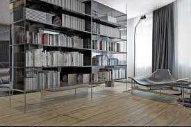 Floor To Ceiling Bookcase Plans Furniture White Painted Hardwood Bookshelves Which Furnished With