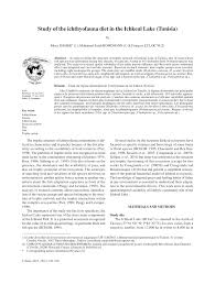 si e atb tunisie study of the ichthyofauna diet in the pdf available