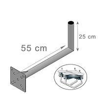 satellitensch ssel halterung balkon hd line geländerhalterung 25cm x 55cm wand de elektronik