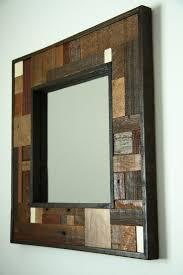 mirror frame ideas best 25 reclaimed wood mirror ideas on pinterest pallet mirror