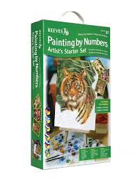 reeves reeves painting by numbers starter set amazon co uk toys