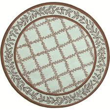 3 Round Area Rugs by Safavieh Chelsea Brown Blue 3 Ft X 3 Ft Round Area Rug Hk230g 3r