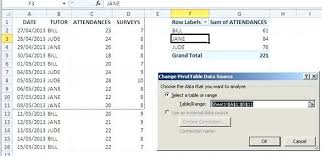 tutorial pivot table excel 2013 pivot table in excel 2013 dynamic data ranges for excel tutorial