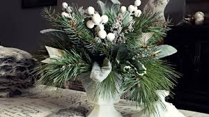 white u0026 gold pine christmas centerpiece pine floral arrangement