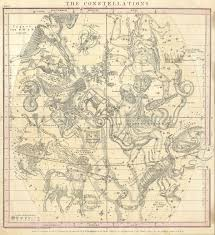 Yellowstone Eruption Map Antique Night Sky Constellation And Zodiac Maps American Info Maps