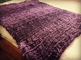 Knitting Home Decor Afghan Eggplant Purple Plum Decor Knit Blanket This Hand Knit