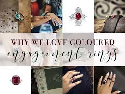 coloured wedding rings images Why we love coloured engagement rings the gem round up jpg