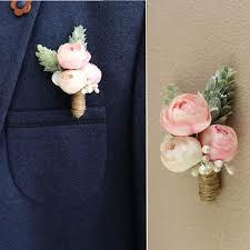 mens boutineer aliexpress buy jonnafe pink floral corsages wedding