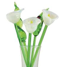 white calla lilies glass flowers white calla kremp