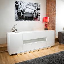 White Gloss Sideboards White Sideboard Cabinet Design U2014 New Decoration Mid Century
