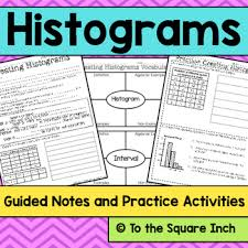 histogram notes vocabulary practice common core standards and