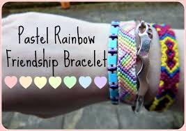 friendship bracelet rainbow images Pastel rainbow friendship bracelet jpg