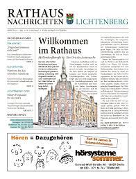 lichtenberger rathausnachrichten ausgabe 03 2016 by