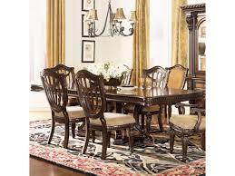 pedestal dining room table sets fairmont designs grand estates double pedestal rectangular dining