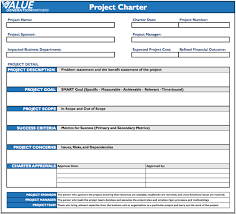 Six Sigma Project Charter Template Excel Project Management Page 4 Value Generation Partners Vblog