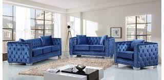 light blue velvet couch light blue velvet sofa set 3pc by meridian furniture