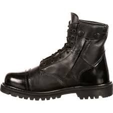 motorcycle footwear mens rocky duty boots men u0027s black side zipper 7 inch jump boot