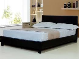 King Size Bed Frame Sale Uk 5ft Kingsize Brown Faux Leather Bed Frame Byron By Sleepland Beds