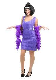 Halloween Flapper Costumes Purple 20s Flapper Costume Womens 1920s Halloween Flapper Dresses