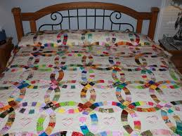 wedding gift quilt heirloom embroidered wedding ring quilt wedding ring quilt
