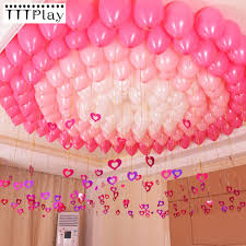 100pcslot Bling Shiny Heart Paperboard Cards Balloons Pendant