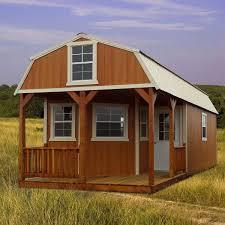 derksen 16 x 32 512 sq ft 1 bedroom factory finished cabin derksen deluxe lofted barn cabin